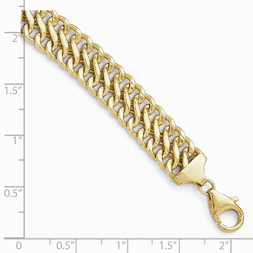 Alternate view of the 10mm 14k Yellow Gold Polished Hollow S Link Chain Bracelet, 7.5 Inch by The Black Bow Jewelry Co.