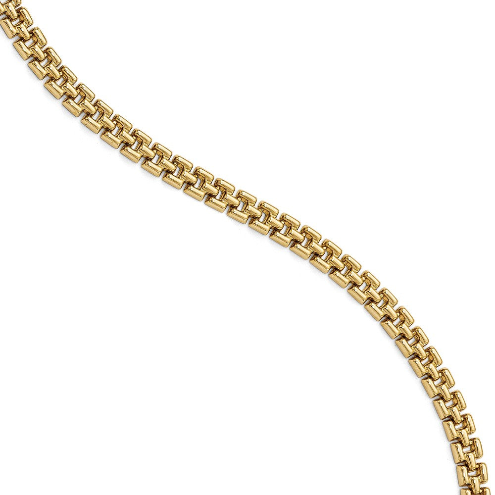 5mm 14k Yellow Gold Women's Panther Link Bracelet, 7.5 Inch, Item B13520 by The Black Bow Jewelry Co.