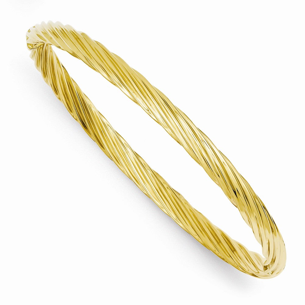 4.5mm 14k Yellow Gold Fancy Swirl Hinged Bangle Bracelet , 8 Inch, Item B13635 by The Black Bow Jewelry Co.