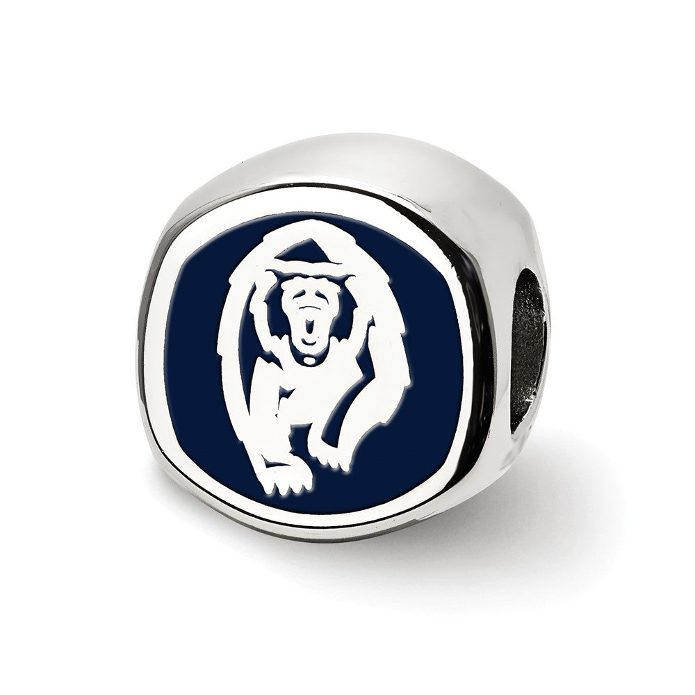 Alternate view of the NCAA Sterling Silver U of California Berkeley Cushion Shape Bead Charm by The Black Bow Jewelry Co.