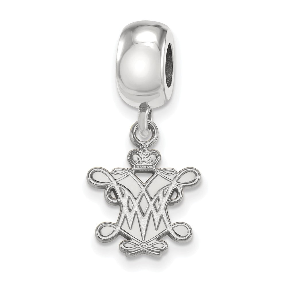 NCAA Sterling Silver William and Mary Small Dangle Bead Charm, Item B13822 by The Black Bow Jewelry Co.