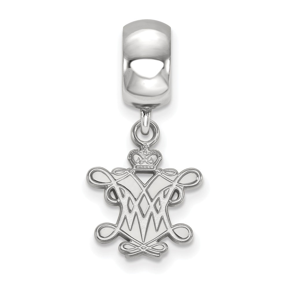 Alternate view of the NCAA Sterling Silver William and Mary Small Dangle Bead Charm by The Black Bow Jewelry Co.