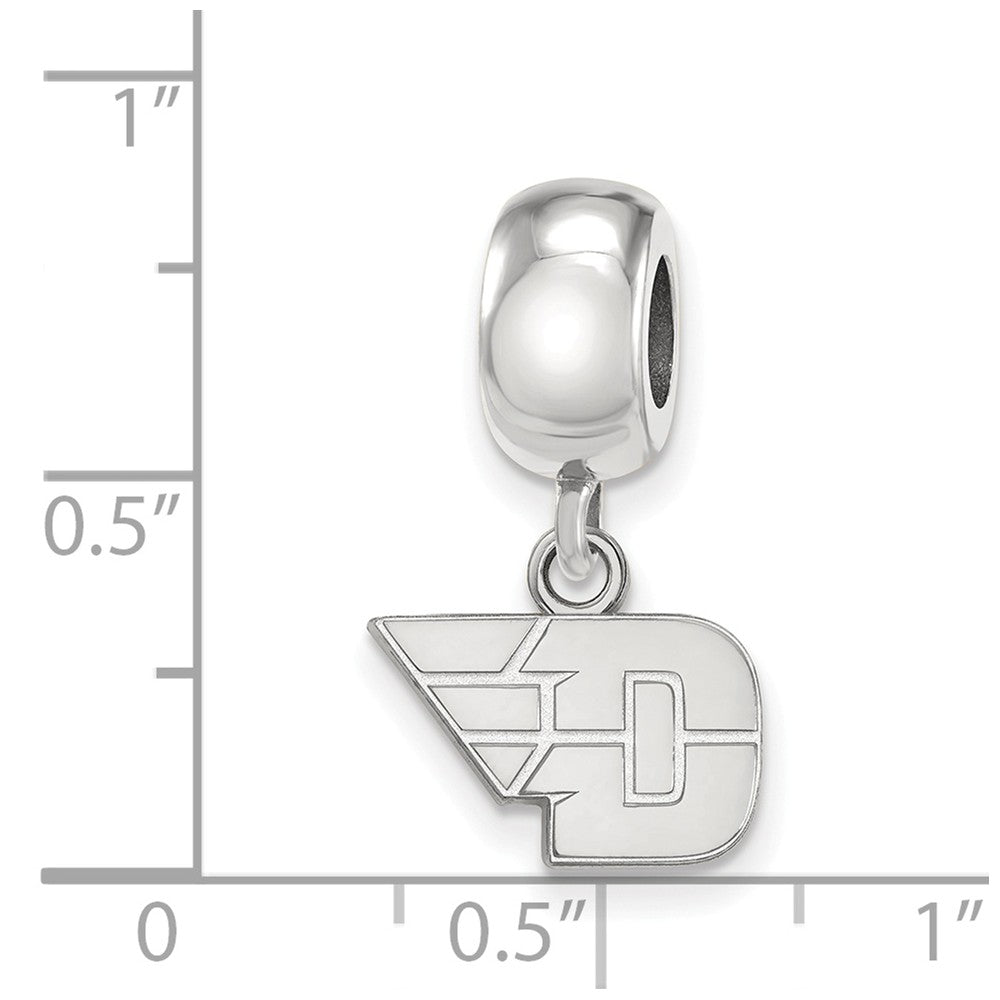 Alternate view of the NCAA Sterling Silver University of Dayton XS Dangle Bead Charm by The Black Bow Jewelry Co.