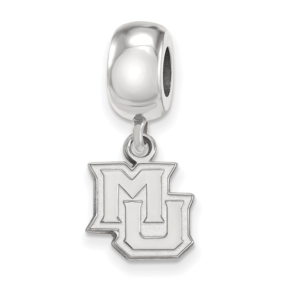 NCAA Sterling Silver Marquette University XS Dangle Bead Charm, Item B14112 by The Black Bow Jewelry Co.