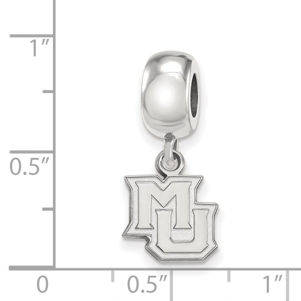 Alternate view of the NCAA Sterling Silver Marquette University XS Dangle Bead Charm by The Black Bow Jewelry Co.