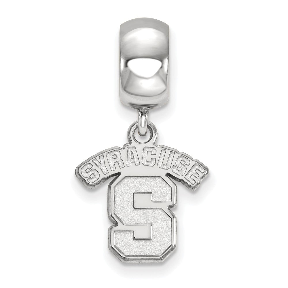 Alternate view of the NCAA Sterling Silver Syracuse University Small Dangle Bead Charm by The Black Bow Jewelry Co.