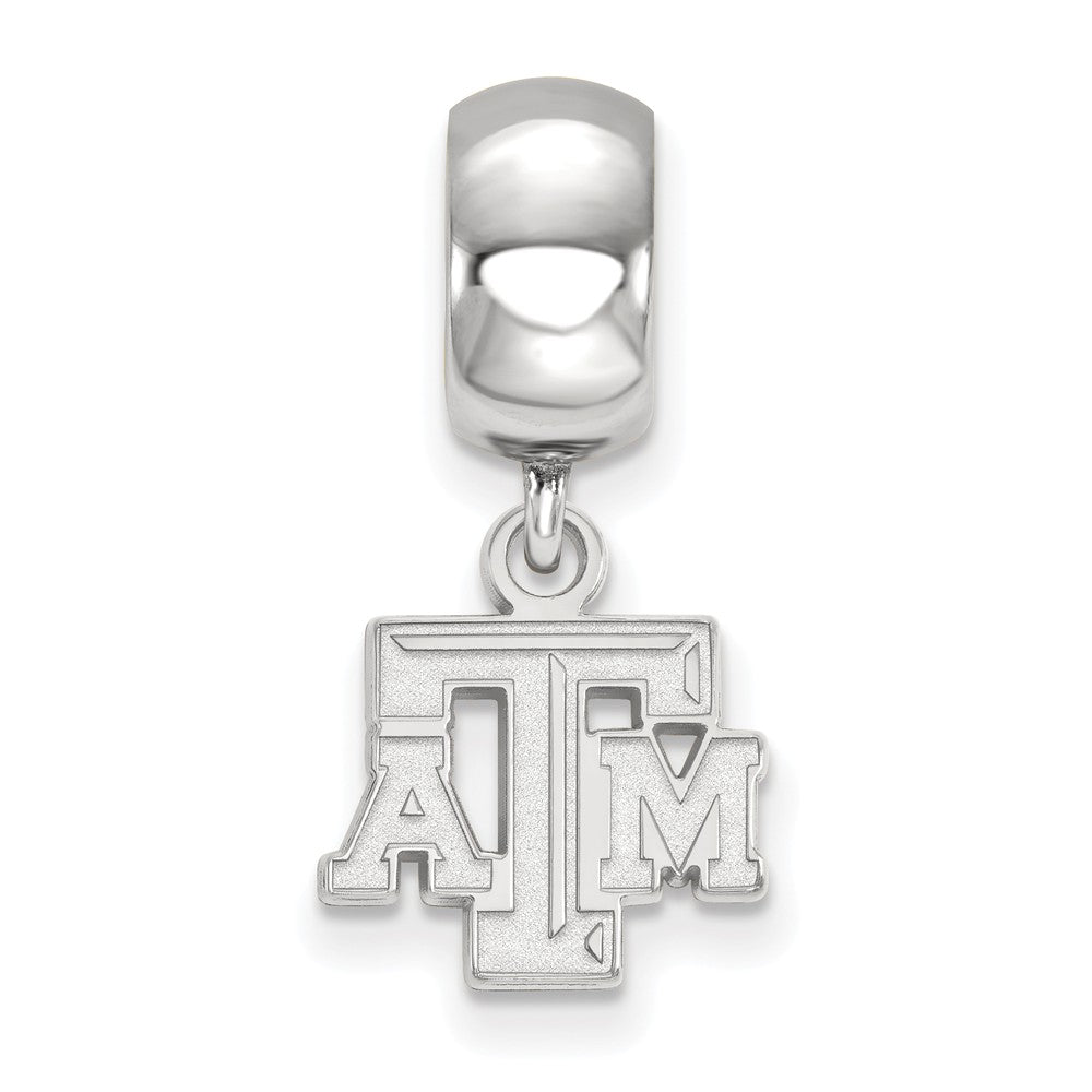 Alternate view of the NCAA Sterling Silver Texas A&M University XS 'TAM' Dangle Bead Charm by The Black Bow Jewelry Co.