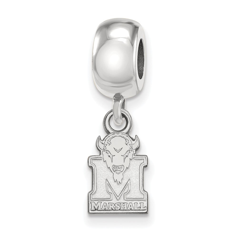 NCAA Sterling Silver Marshall University XS Dangle Bead Charm, Item B14157 by The Black Bow Jewelry Co.