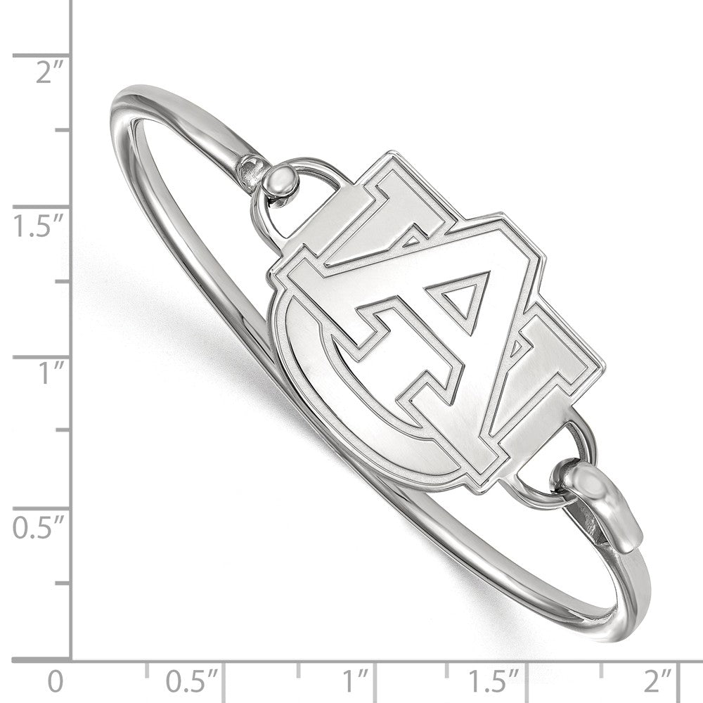 Alternate view of the NCAA Sterling Silver Auburn University Lg Logo Bangle, 7 Inch by The Black Bow Jewelry Co.
