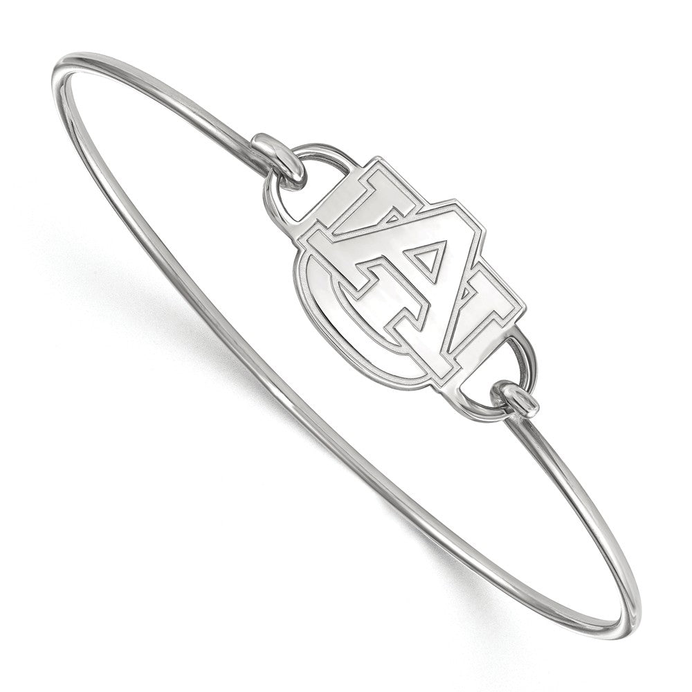 NCAA Sterling Silver Auburn University Small Bangle, 7 Inch, Item B14636 by The Black Bow Jewelry Co.