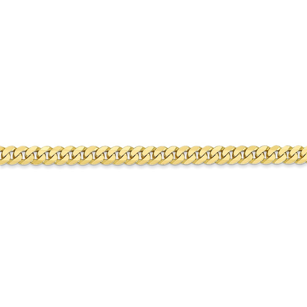 Alternate view of the 3.2mm 10k Yellow Gold Flat Beveled Curb Chain Bracelet by The Black Bow Jewelry Co.