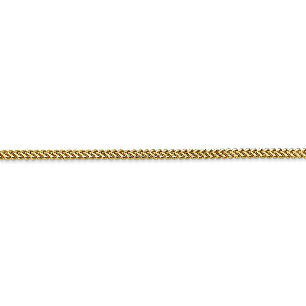 Alternate view of the 1.5mm 10k Yellow Gold Solid Franco Chain Bracelet by The Black Bow Jewelry Co.