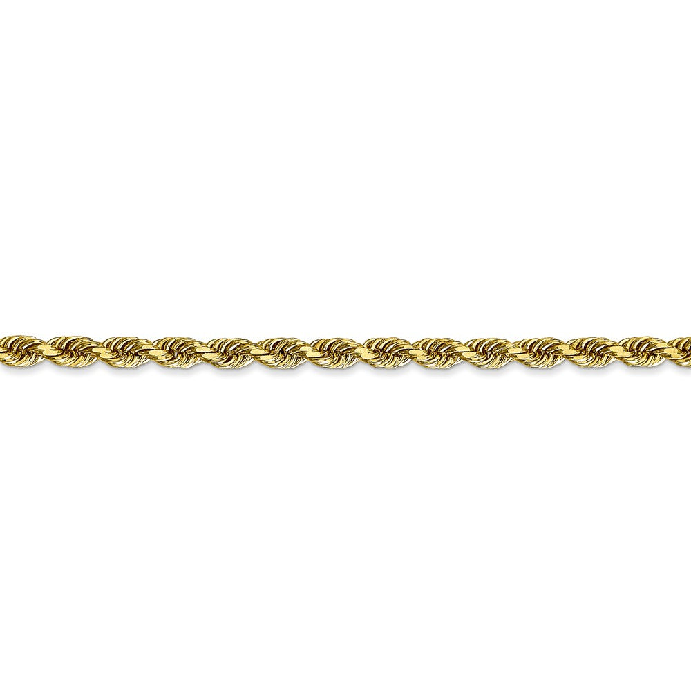 Alternate view of the 3.25mm 10k Yellow Gold D/C Quadruple Rope Chain Bracelet by The Black Bow Jewelry Co.