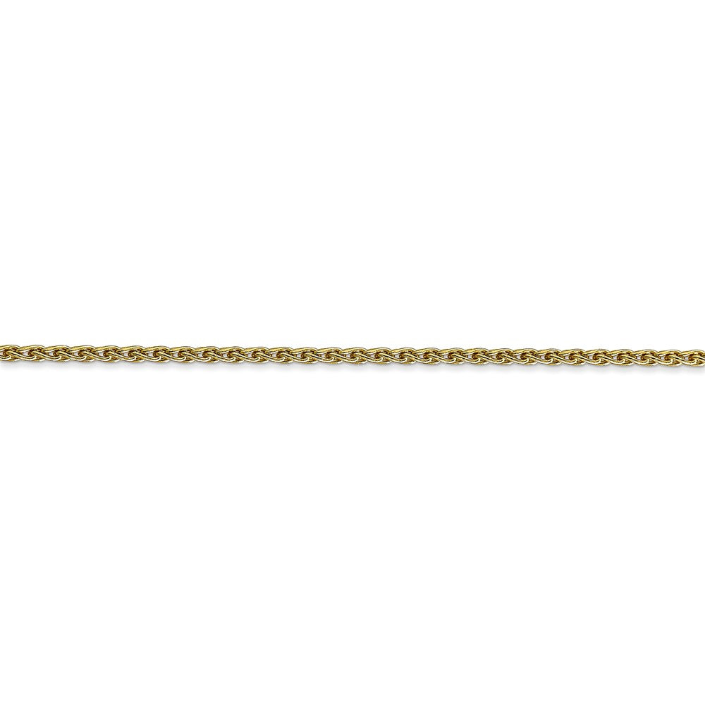 Alternate view of the 1.75mm 10k Yellow Gold Parisian Wheat Chain Bracelet by The Black Bow Jewelry Co.