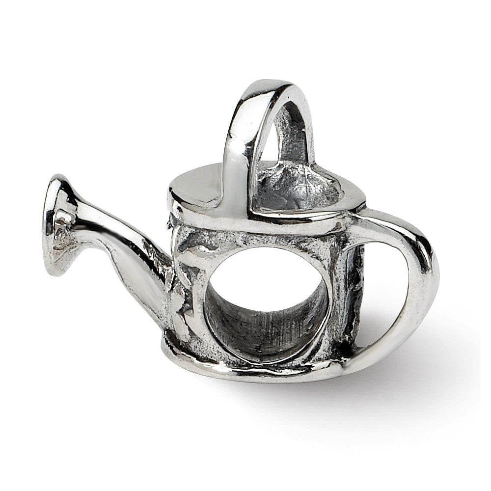 Sterling Silver Watering Can Bead Charm, Item B8747 by The Black Bow Jewelry Co.