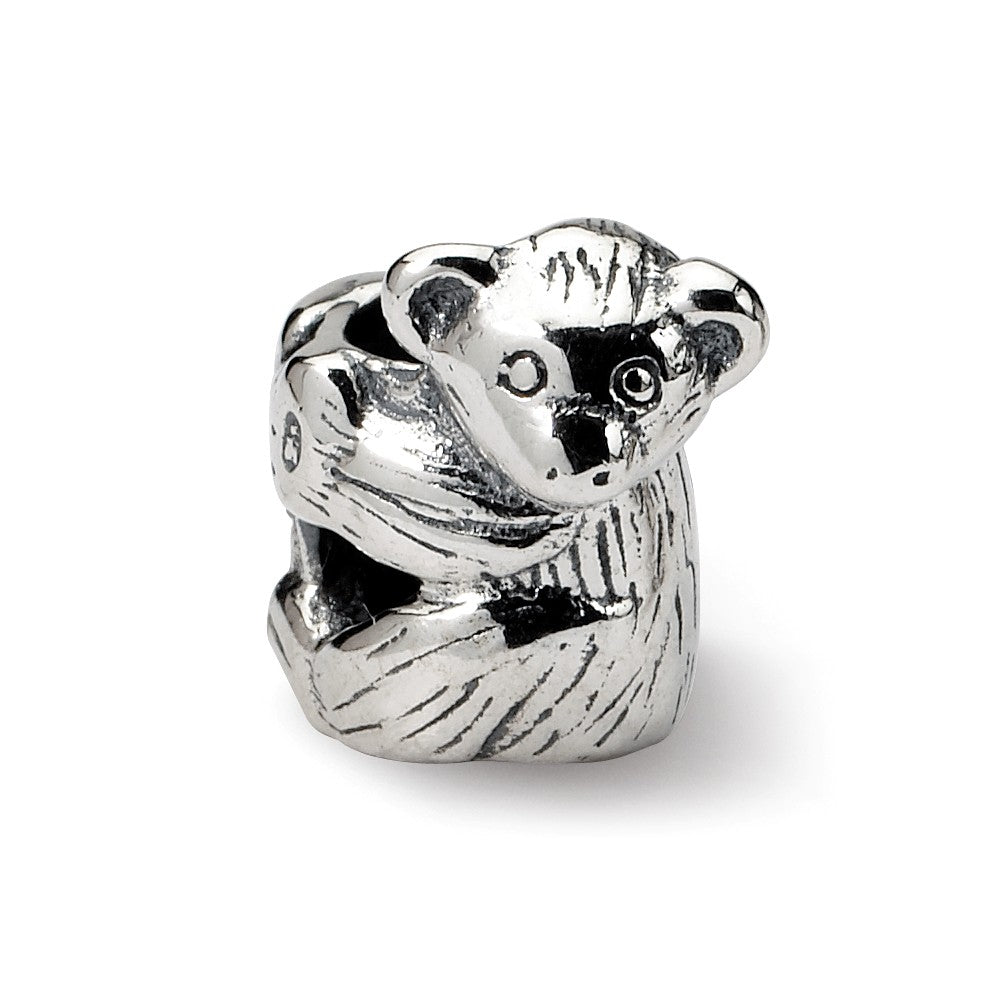 Sterling Silver Baby Bear Bead Charm, Item B8856 by The Black Bow Jewelry Co.
