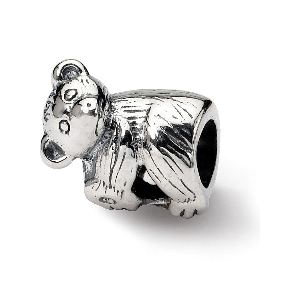 Alternate view of the Sterling Silver Baby Bear Bead Charm by The Black Bow Jewelry Co.