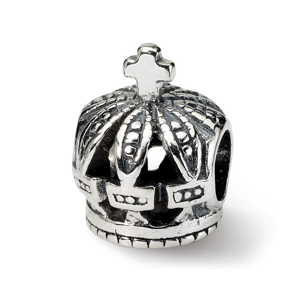 Royal Crown Charm in Silver for 3mm Charm Bracelets, Item B9325 by The Black Bow Jewelry Co.