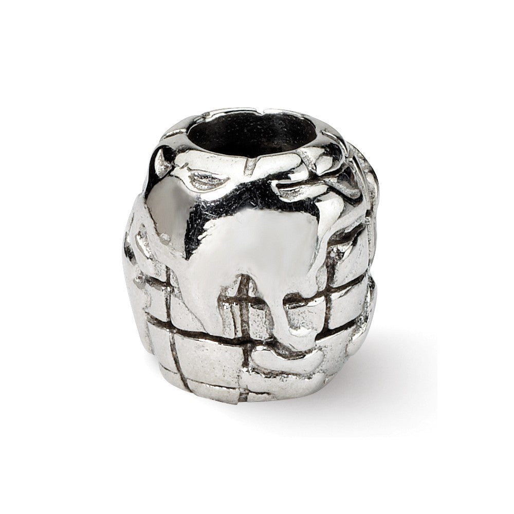 Alternate view of the Sterling Silver World Bead Charm by The Black Bow Jewelry Co.