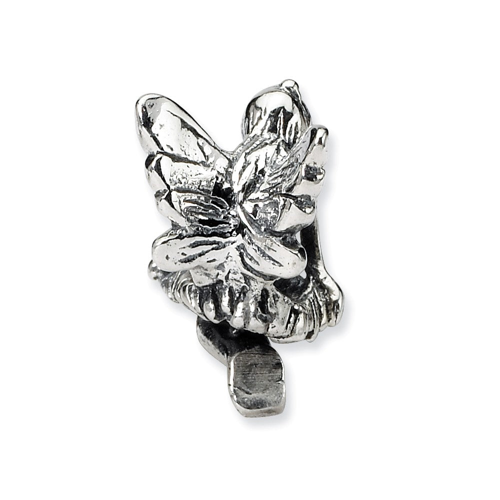 Alternate view of the Sterling Silver Delicate Fairy Bead Charm by The Black Bow Jewelry Co.