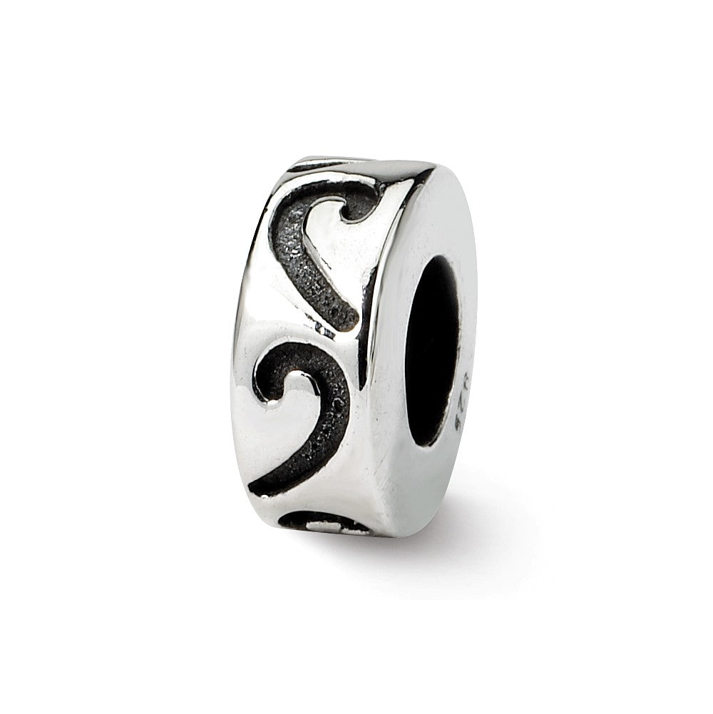Sterling Silver Stopper and Spacer Bead Charm, Item B9649 by The Black Bow Jewelry Co.