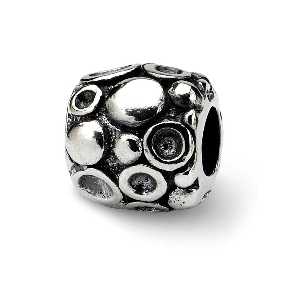 Sterling Silver Droplet Bali Bead Charm, Item B9654 by The Black Bow Jewelry Co.