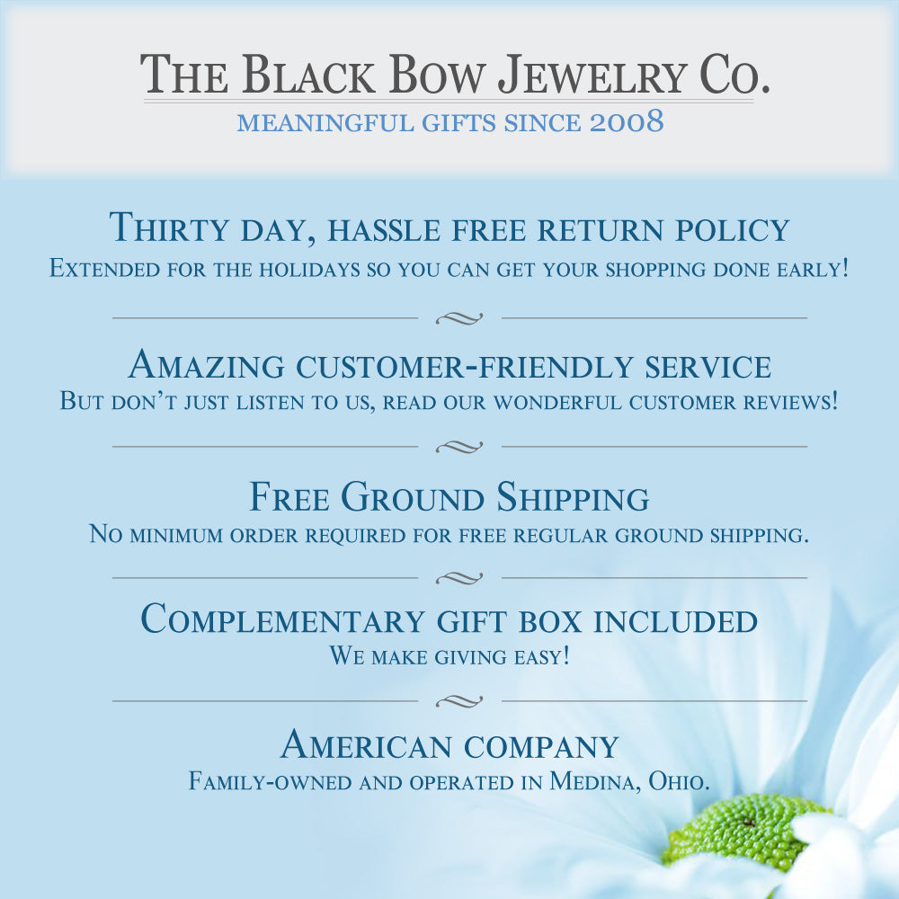 The Black Bow Jewelry Company; An American Company - Free shipping - Easy Returns - Amazing customer service - Free gift box and so much more.