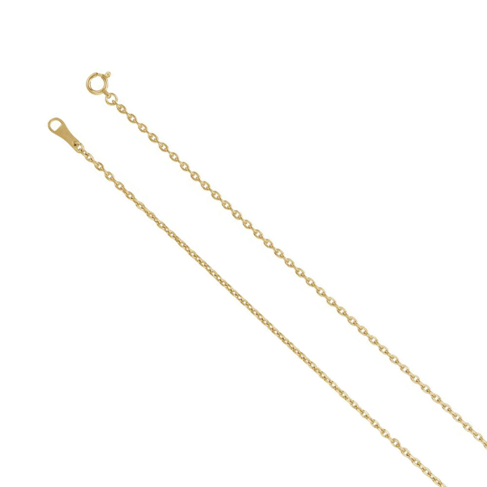 18k Yellow Gold 1.7mm Solid Cable Chain Necklace