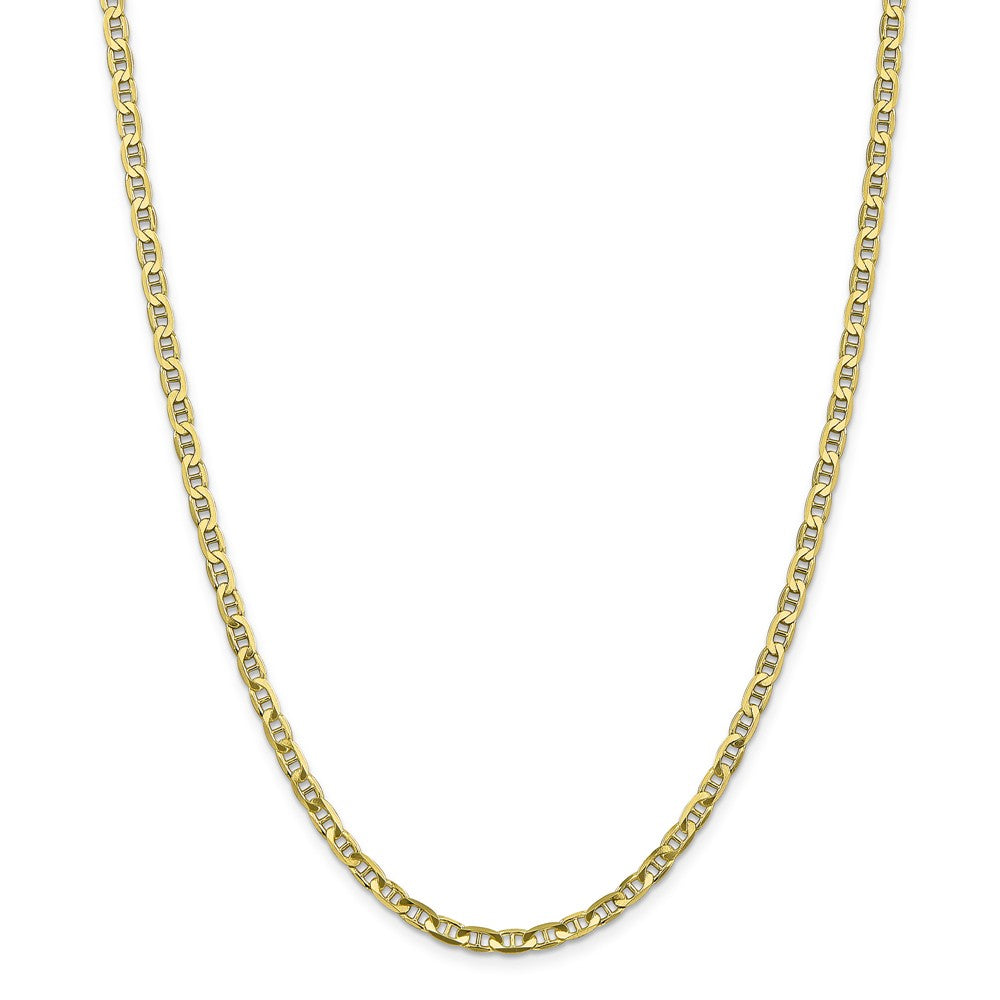 Alternate view of the 10k Yellow Gold 3.75mm Solid Concave Anchor Chain Necklace by The Black Bow Jewelry Co.
