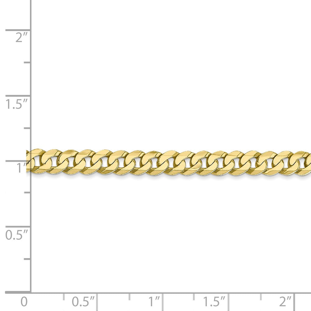 Alternate view of the 4.75mm 10k Yellow Gold Flat Beveled Curb Chain Necklace by The Black Bow Jewelry Co.