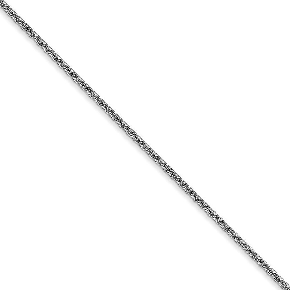 1.5mm 10k White Gold Solid Cable Chain Necklace