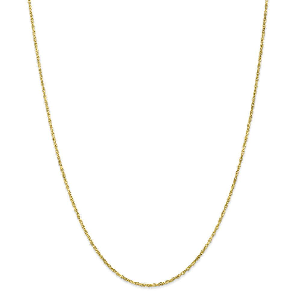 Alternate view of the 1.3mm 10k Yellow Gold Solid Baby Rope Chain Necklace by The Black Bow Jewelry Co.