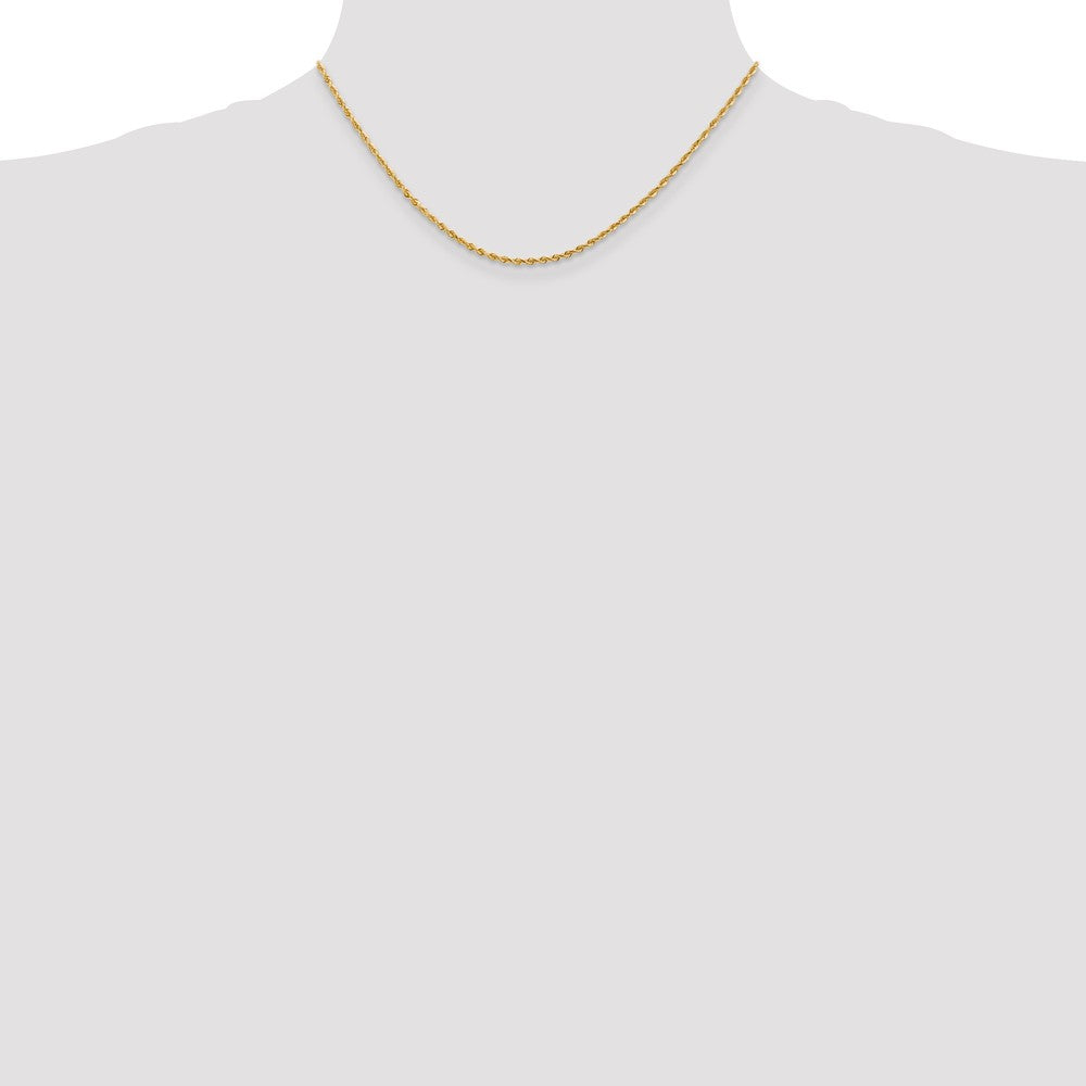 Alternate view of the 2mm 10k Yellow Gold D/C Quadruple Rope Chain Necklace by The Black Bow Jewelry Co.