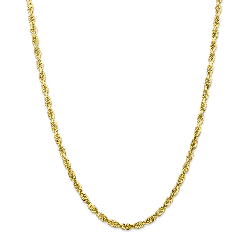Alternate view of the 4.5mm 10k Yellow Gold D/C Quadruple Rope Chain Necklace by The Black Bow Jewelry Co.