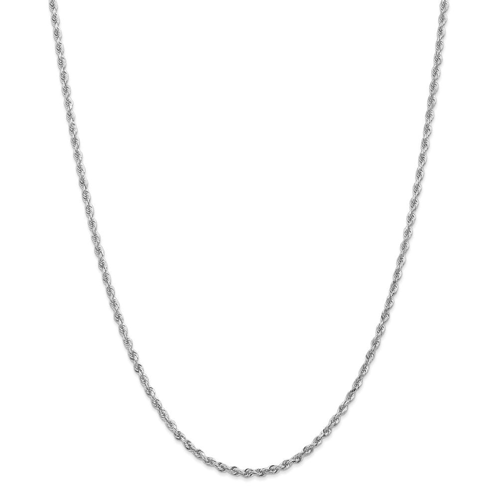 Alternate view of the 2.75mm 10k White Gold D/C Quadruple Rope Chain Necklace by The Black Bow Jewelry Co.