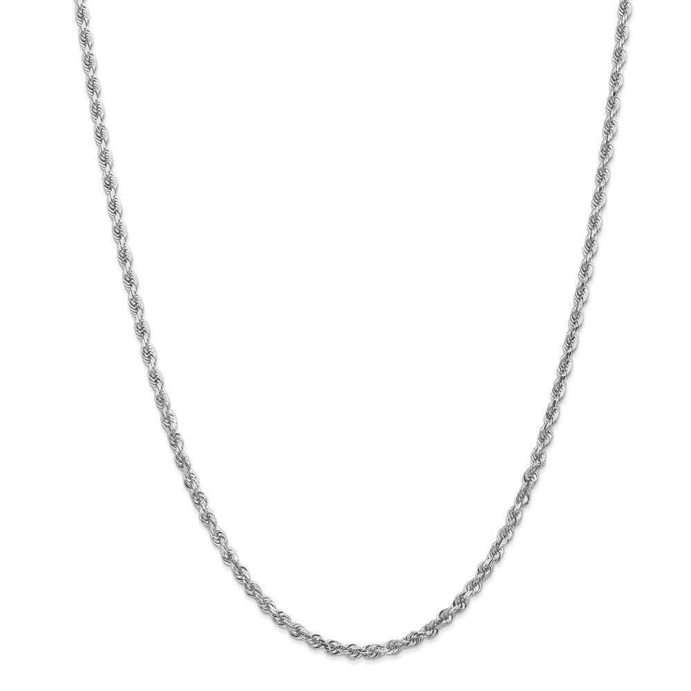 Alternate view of the 3.25mm 10k White Gold D/C Quadruple Rope Chain Necklace by The Black Bow Jewelry Co.