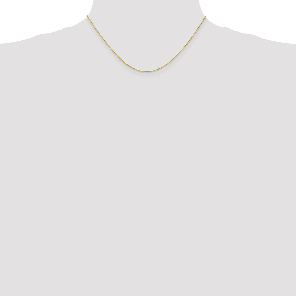 Alternate view of the 1mm 10k Yellow Gold Solid Parisian Wheat Chain Necklace by The Black Bow Jewelry Co.