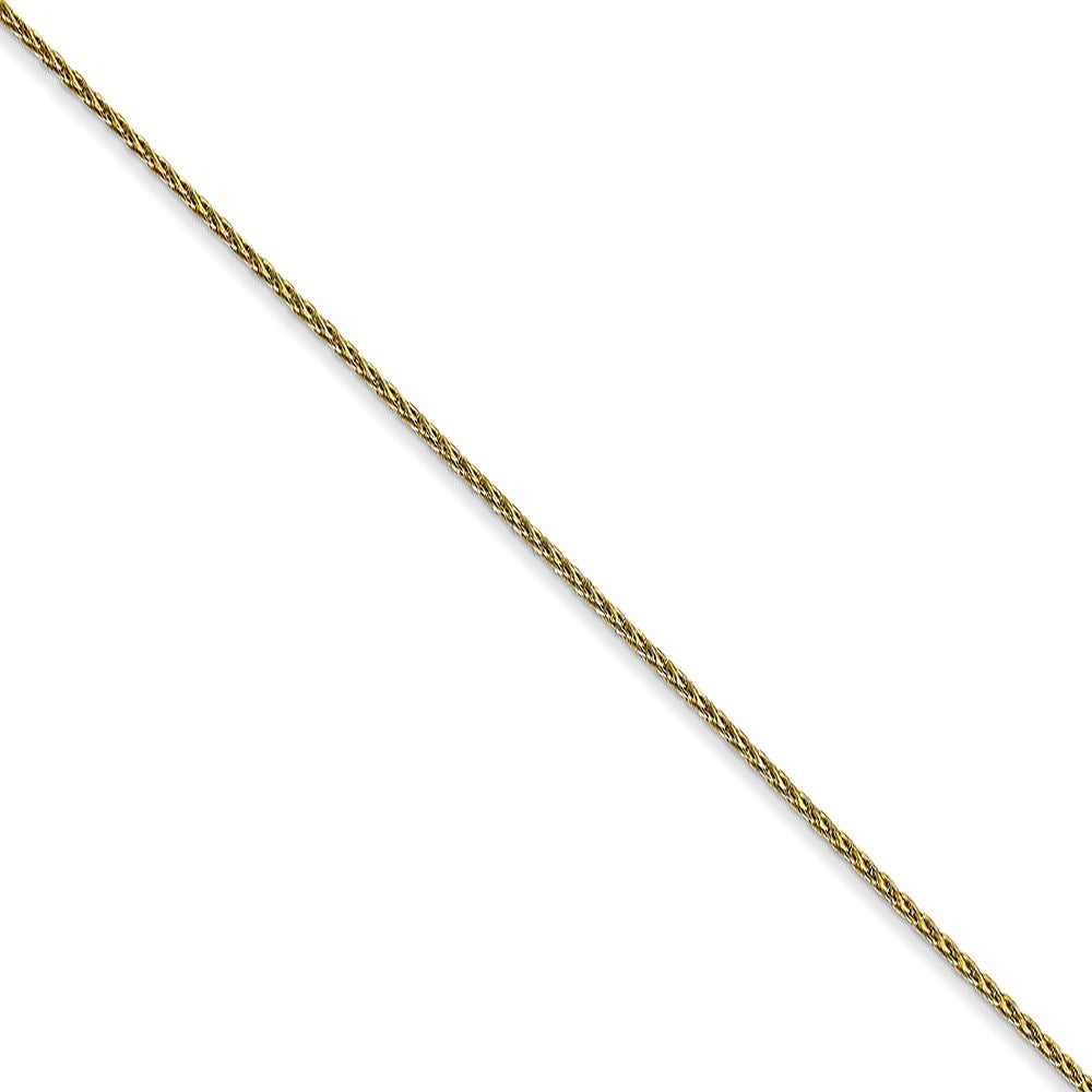 1mm 10k Yellow Gold Solid Parisian Wheat Chain Necklace