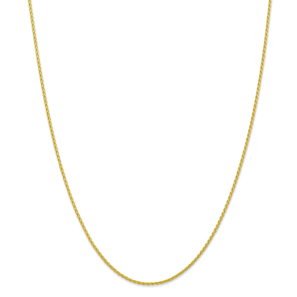 Alternate view of the 1.5mm 10k Yellow Gold Parisian Wheat Chain Necklace by The Black Bow Jewelry Co.