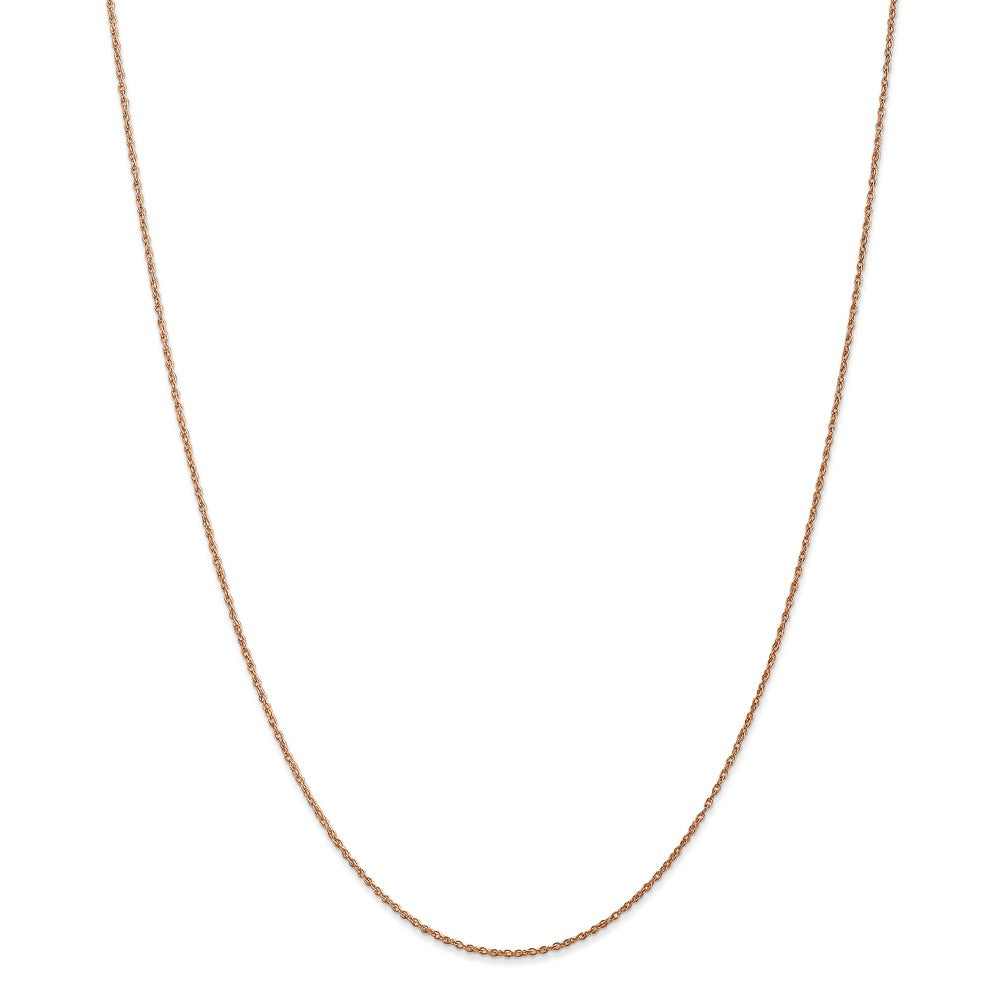 Alternate view of the 0.8mm 14k Rose Gold Solid Baby Rope Chain Necklace by The Black Bow Jewelry Co.