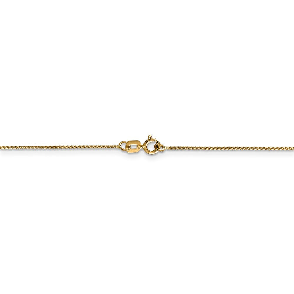 Alternate view of the 0.65mm 14k Yellow Gold D/C Spiga Chain Spring Ring Clasp Necklace by The Black Bow Jewelry Co.