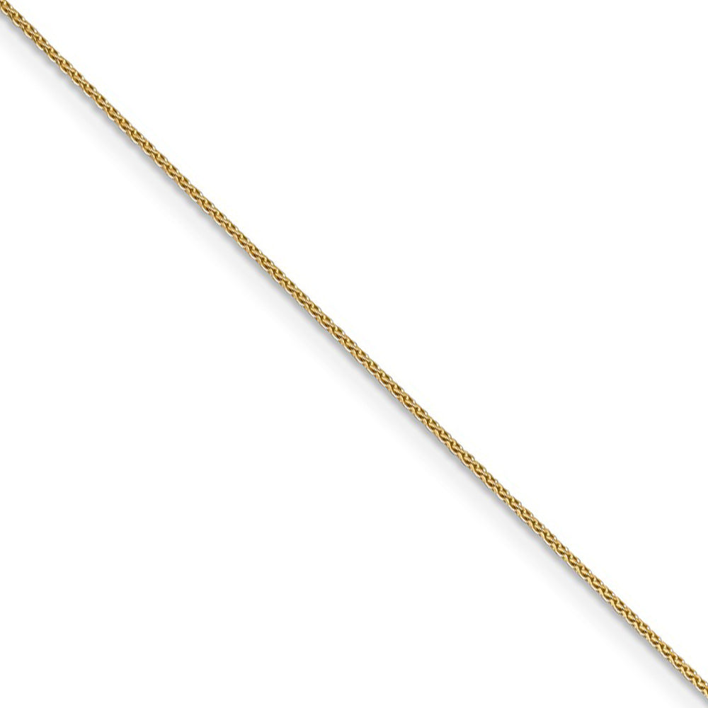 1.8mm 14k Rose Gold Solid Diamond Cut Spiga Chain Necklace - The Black Bow Jewelry Co.