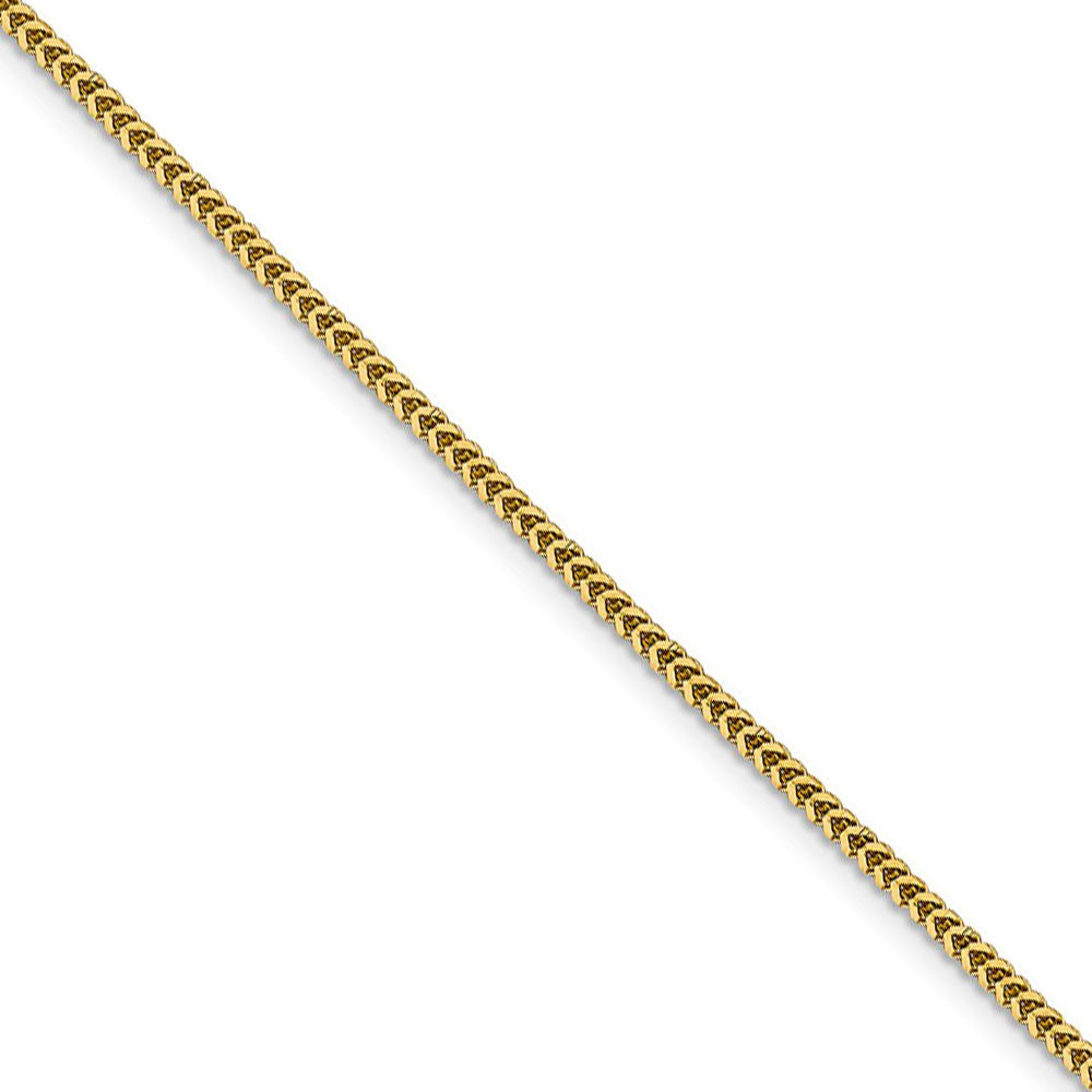1.4mm 14k Yellow Gold Solid Franco Chain Necklace - The Black Bow Jewelry Co.
