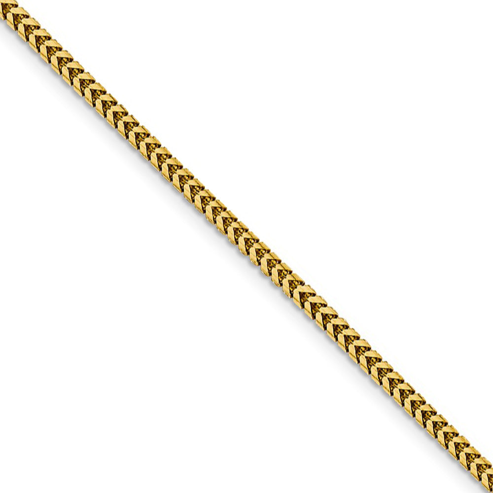 2.25mm 14k Yellow Gold Solid Franco Chain Necklace - The Black Bow Jewelry Co.