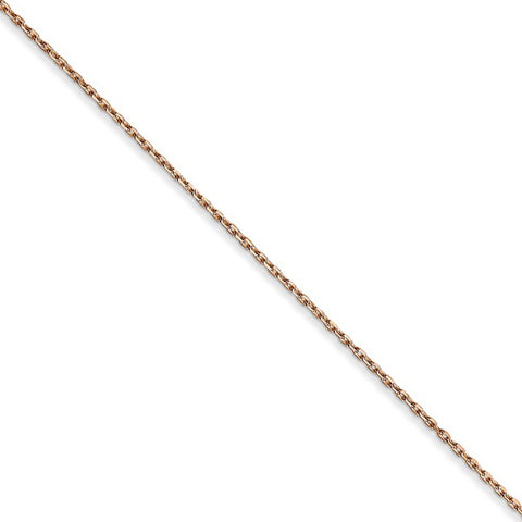 14K White Gold Unisex Kids 2.00MM Diamond-Cut Rope Link Chain Necklace