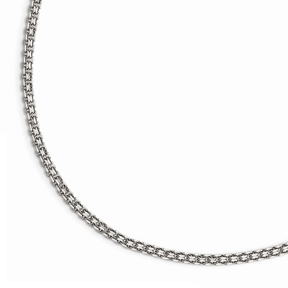 3mm Stainless Steel Bismark Mesh Chain Necklace - The Black Bow Jewelry Co.
