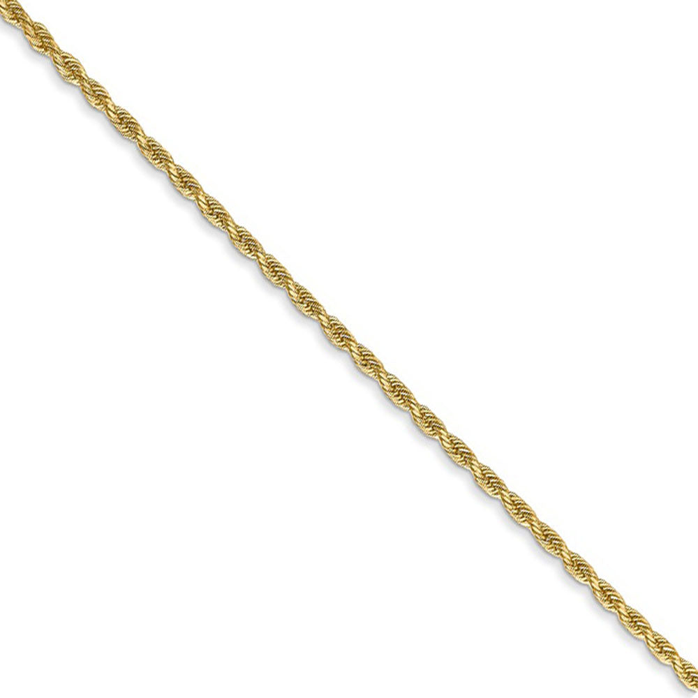1.5mm 14k Yellow Gold, D/C Rope Chain Necklace - The Black Bow Jewelry Co.