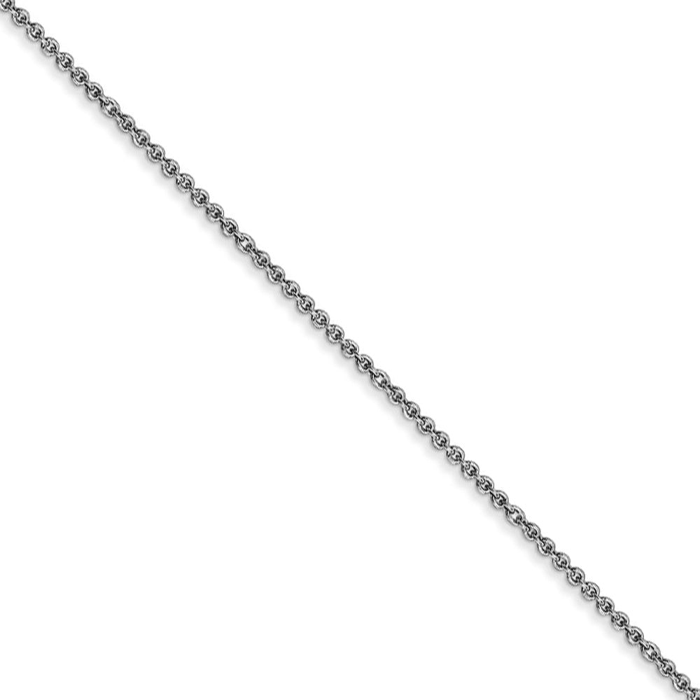 1mm, 14k White Gold, Solid Cable Chain Necklace - The Black Bow Jewelry Co.