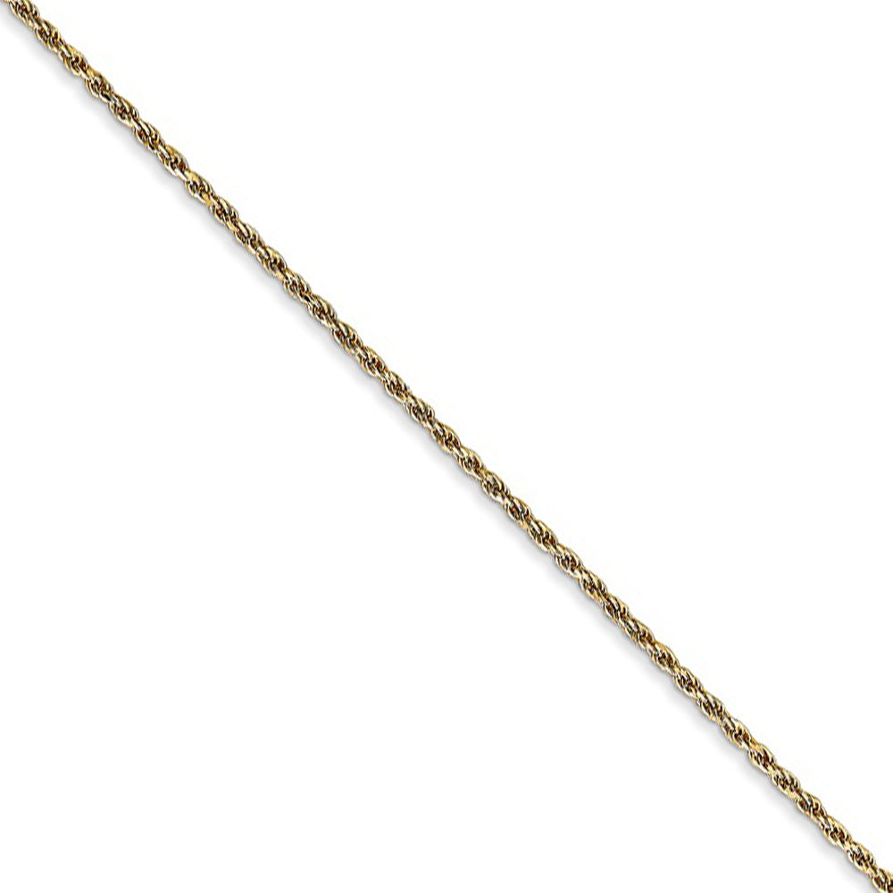 1.15mm, 14k Yellow Gold, Diamond Cut Solid Rope Chain Necklace - The Black Bow Jewelry Co.