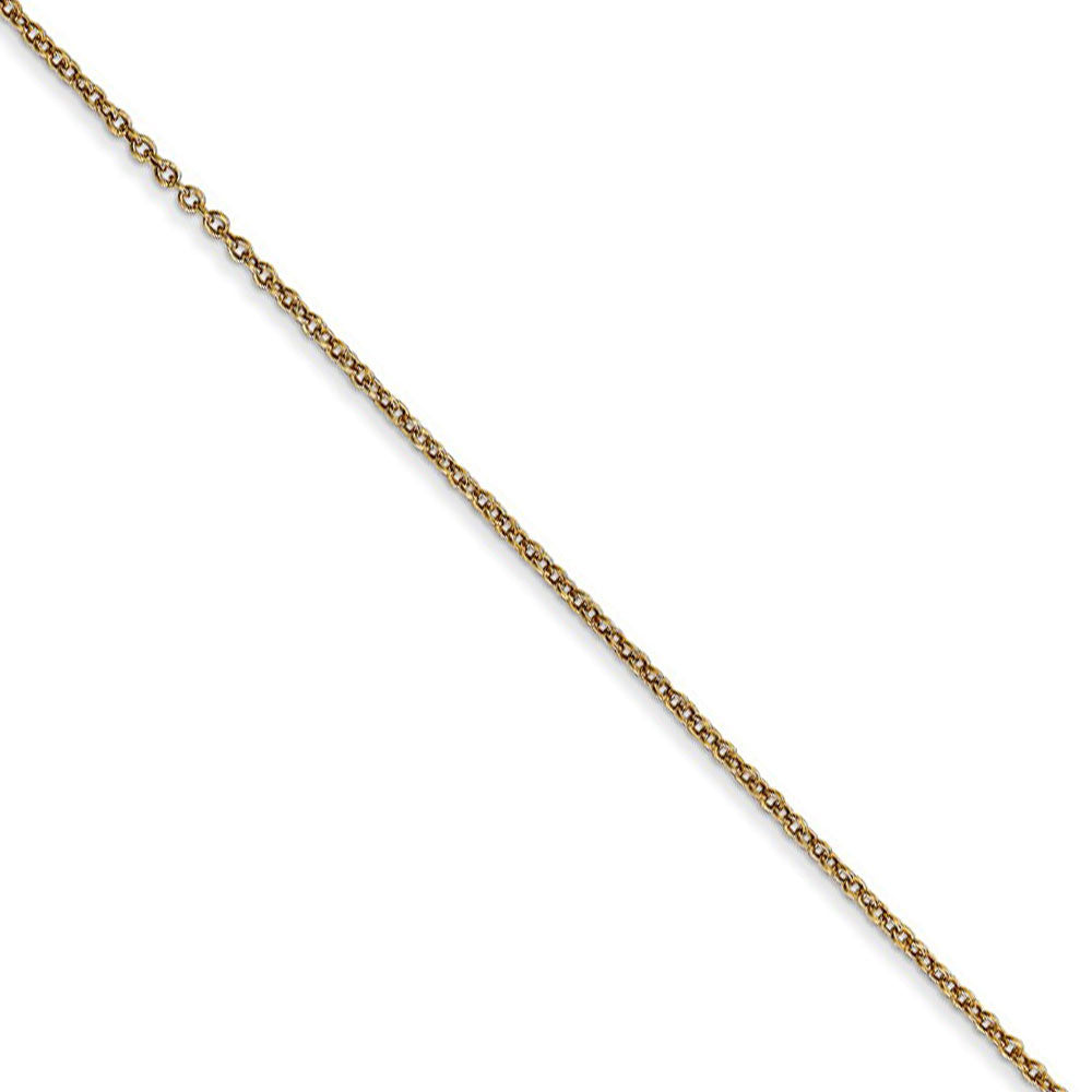 0.9mm, 14k Yellow Gold, Cable Chain Necklace - The Black Bow Jewelry Co.